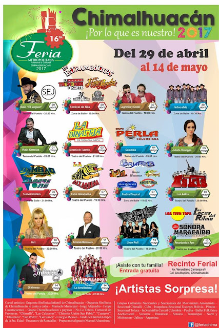 teatro del pueblo feria chimalhuacán 2017