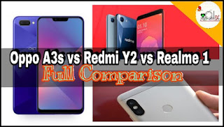 Oppo A3s vs Redmi Y2 vs RealMe 1 : Full Comparison
