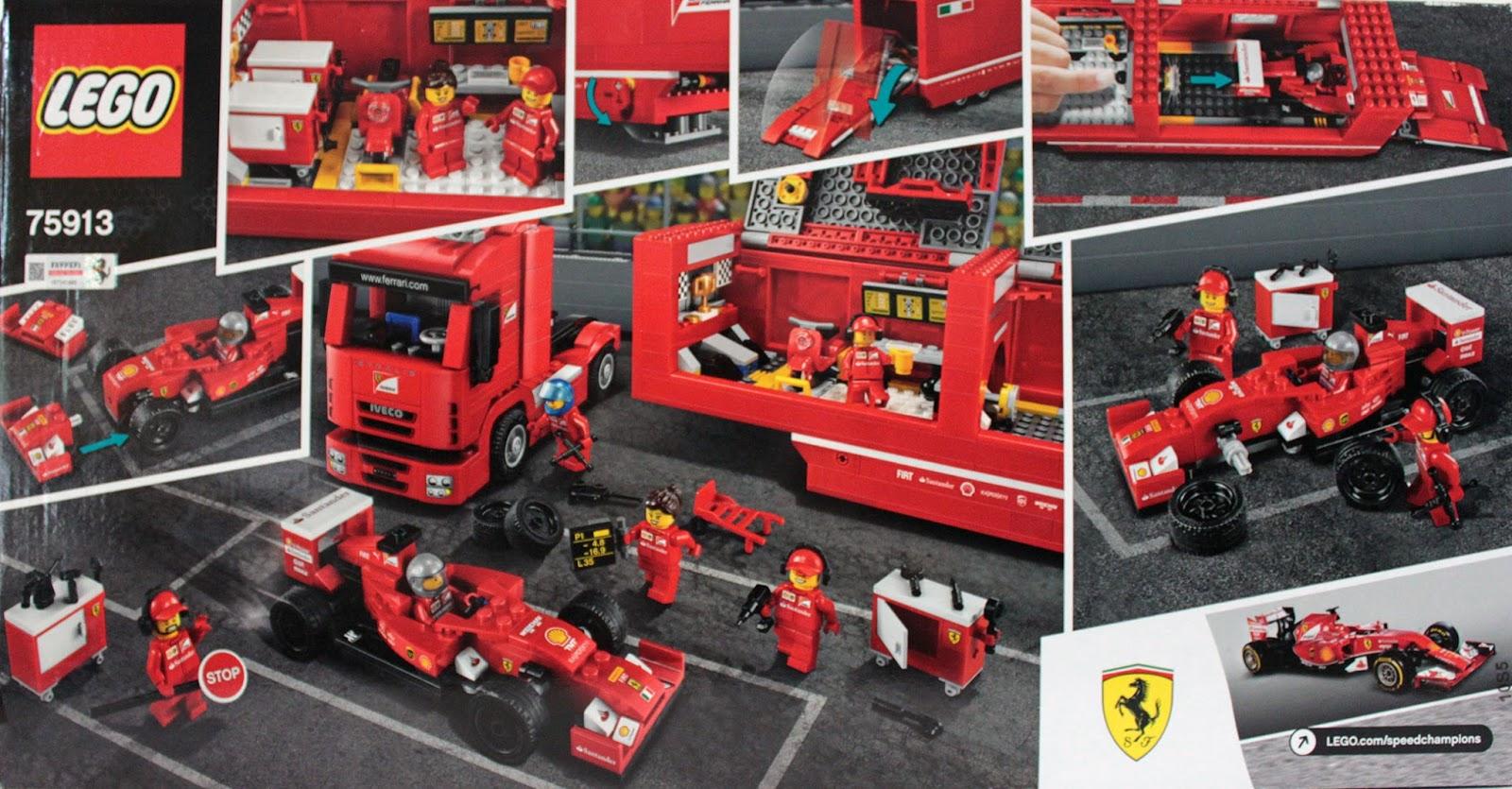 lubo creative bricks lego speed champions 75913 f14 t scuderia ferrari truck. Black Bedroom Furniture Sets. Home Design Ideas