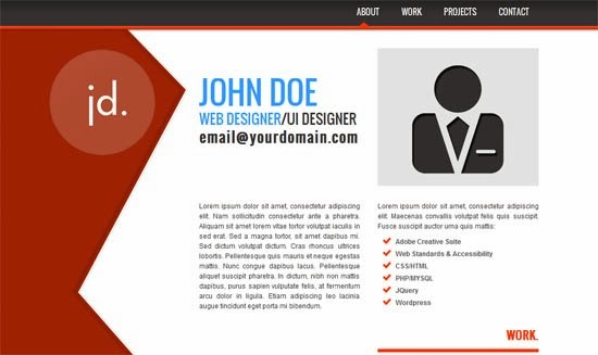 7 html css personal website templates free download