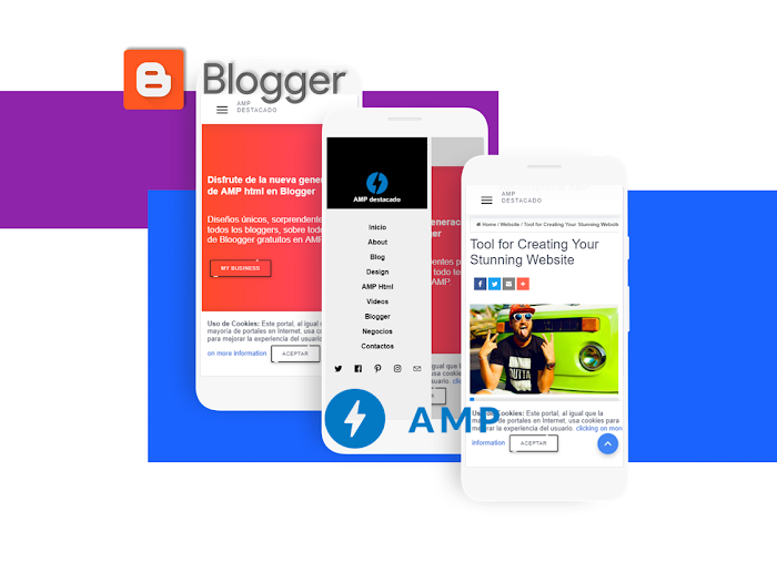 AMP landing page template free