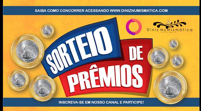 SUPER SORTEIO DE PRÊMIOS - Collectgram e Diniz Numismática.