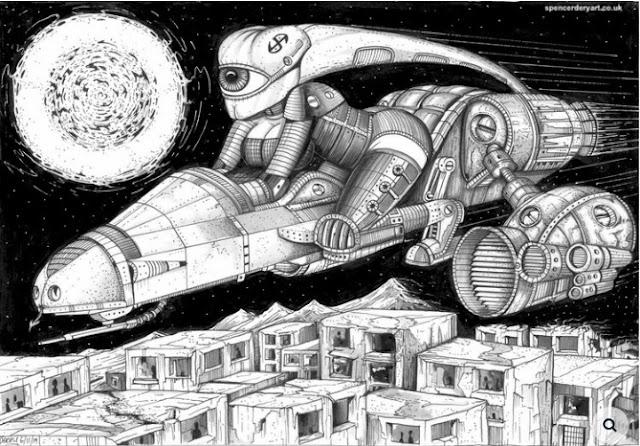 Comic Sci-fi Art, Buy Art online
