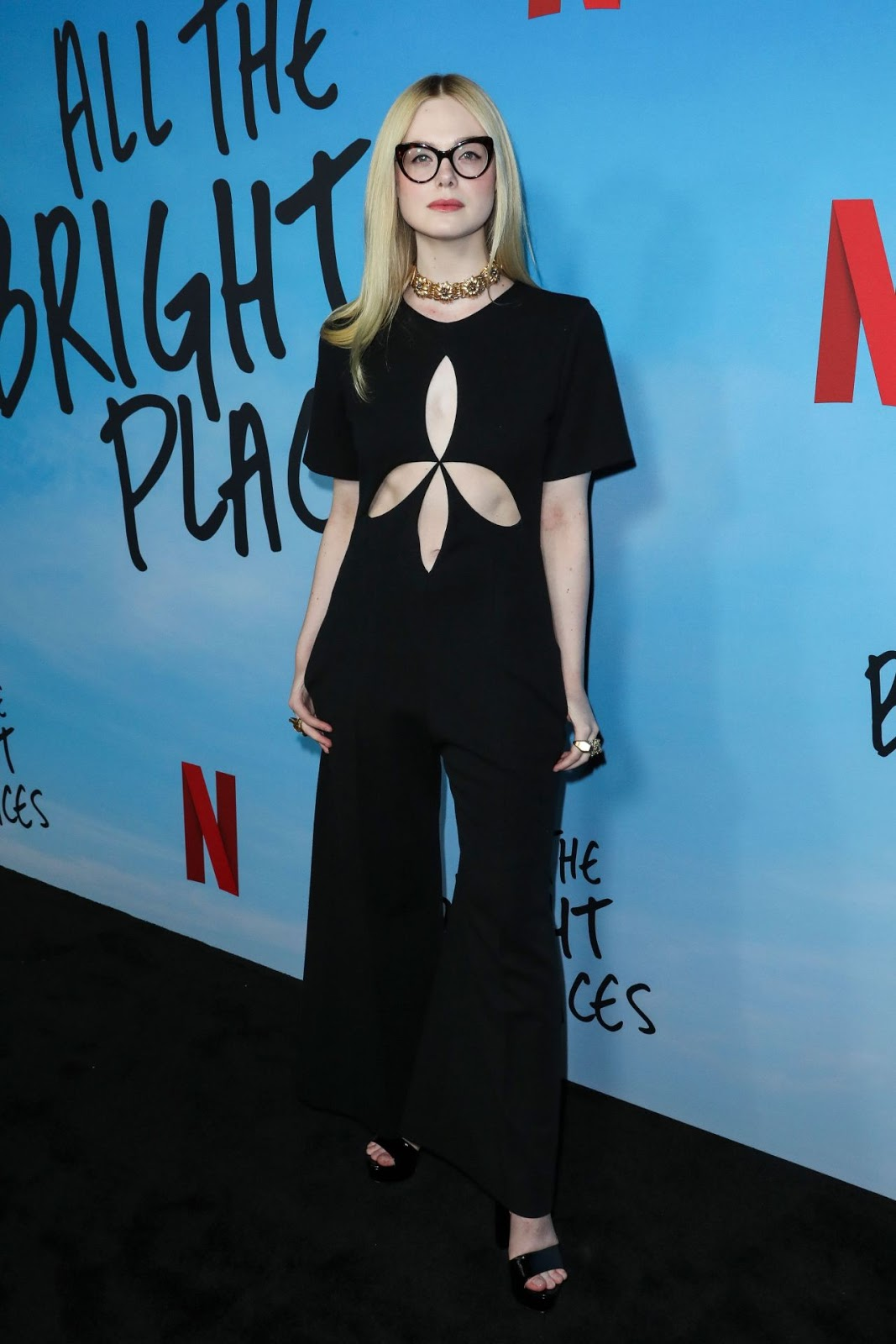 Elle Fanning flaunts Gucci at the All The Bright Places premiere in LA