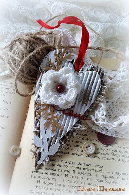 сердечко, валентинка, гофро-картон, эко
