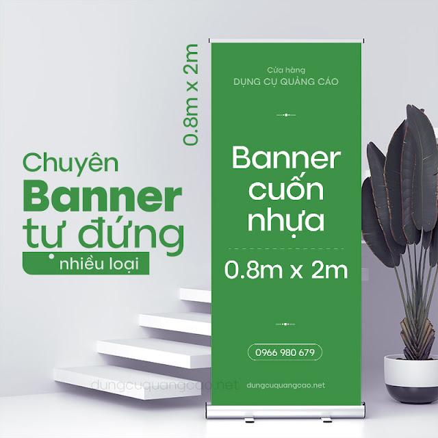 Banner cuốn nhựa 80*200 là loại giá rẻ nhất