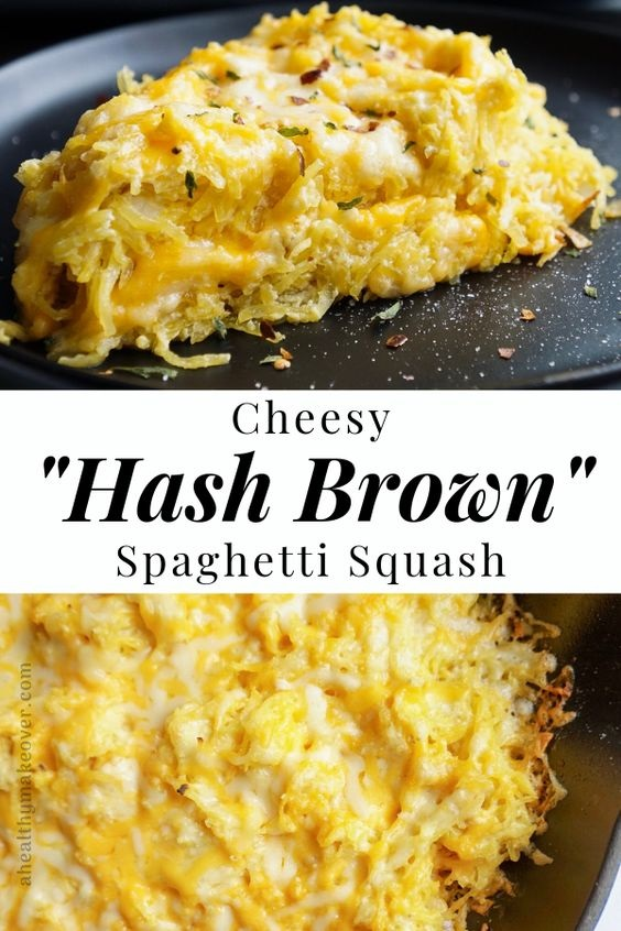 Cheesy Hash Brown Spaghetti Squash