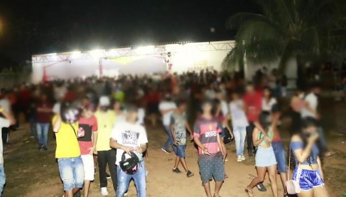 Festa clandestina com mais 500 pessoas é flagrada pela Polícia Militar na Capital