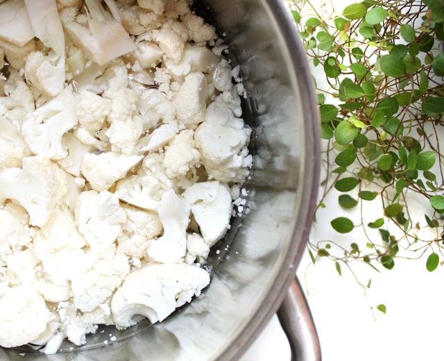 Oppskrift Vegansk Blomkålsuppe Enkel Kremet Uten Melk Rask Middag Sunn Suppe