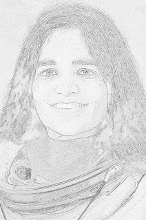kalpana chawla easy sketch - Hindi365