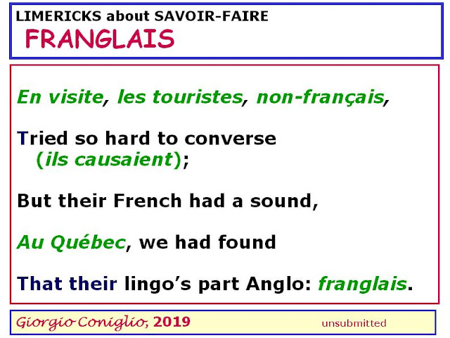 limerick; French language; tourism; Giorgio Coniglio