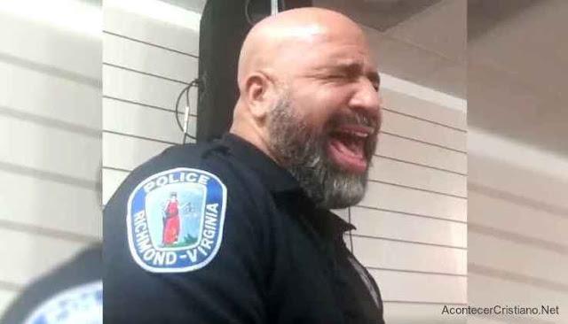 Policía Mervin Mayo canta alabanza a Dios