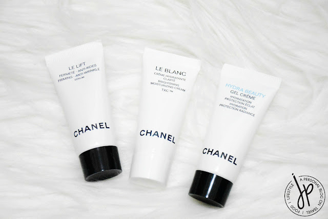 three chanel skincare tubes