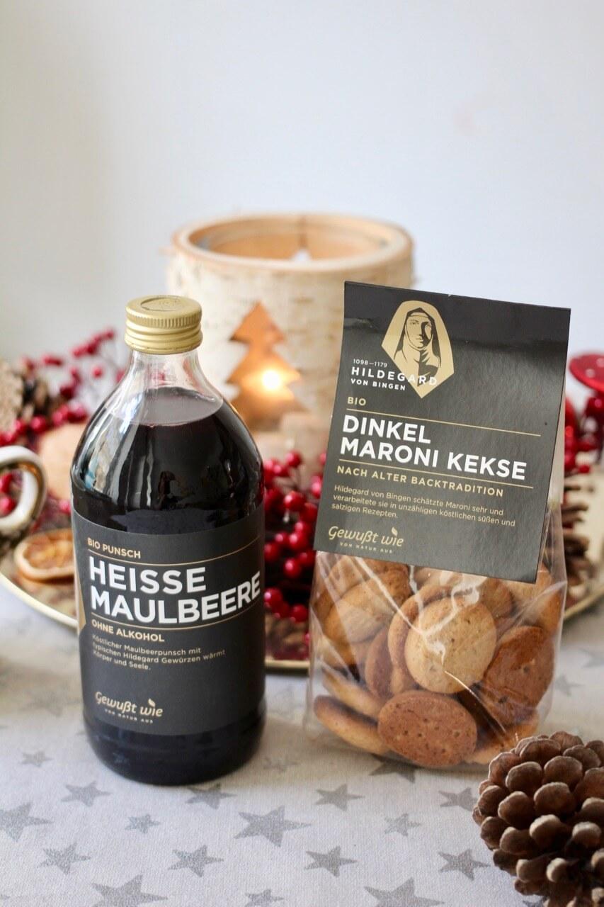 Gewußt wie Hildegard von Bingen Maulbeere Bio Punsch Maroni Dinkel Kekse
