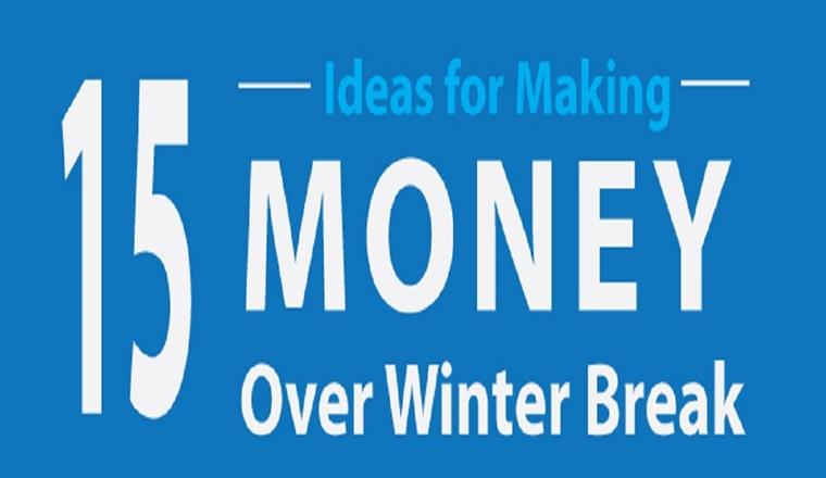 15 Ideas for Making Money During Winter Break #infographic