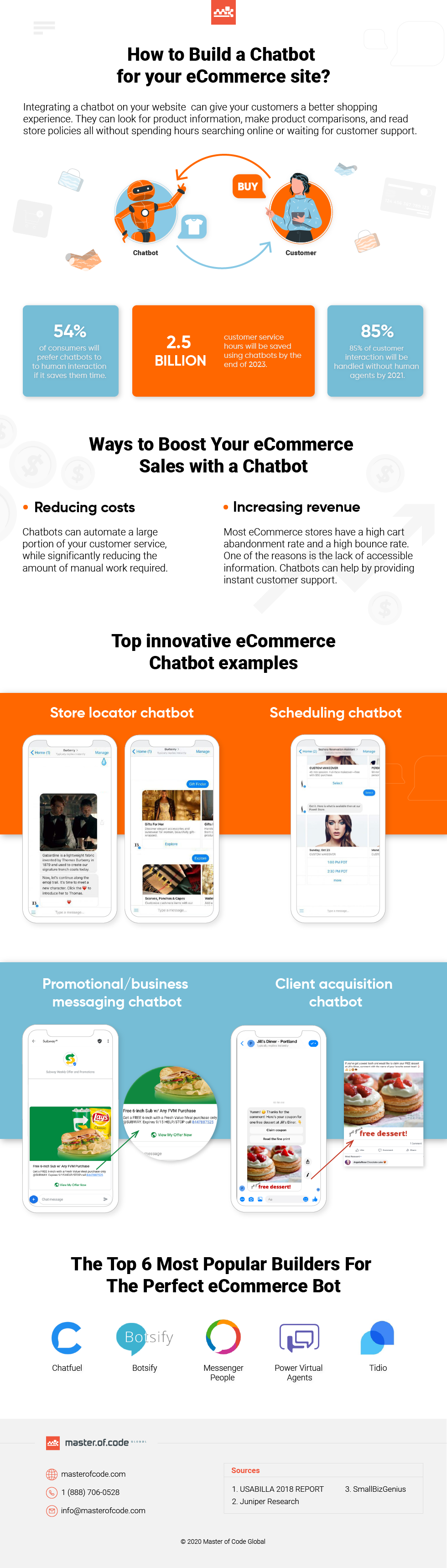 How to Create the Perfect Chatbot for Your eCommerce Store and Increase Profits #infographic