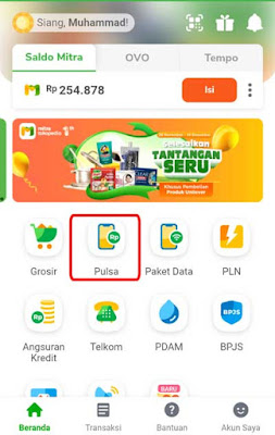 top up pulsa murah Mitra Tokopedia