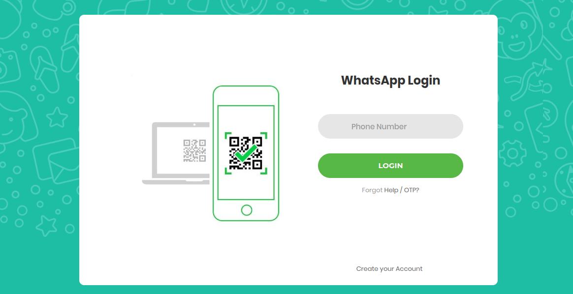 whatsapp phishing  page