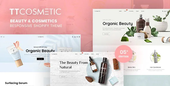 Best Beauty & Cosmetics Shop Responsive Shopify Theme