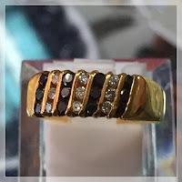 Jual Cincin Emas Berlian Kombinasi
