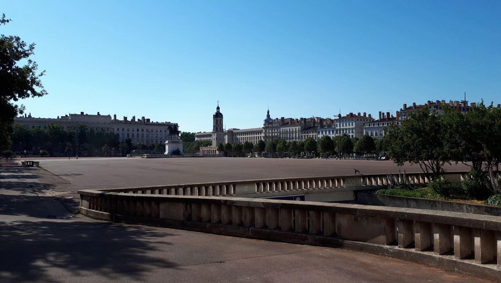 La place Bellecour de Lyon