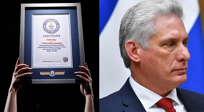 Cubanos implantan nuevo récord Guinness por llamarle singao a Miguel Díaz-Canel