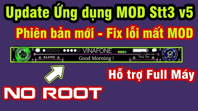 Ứng dụng MOD thanh trạng thái (Stt3) v5 - NO ROOT