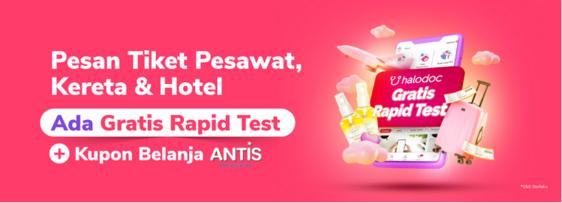 promo tokopedia beli tiket gratis rapid test