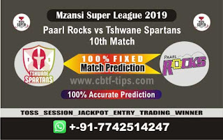 Who will win Today MSL T20 2019, 10th Match Spartans vs Parl 10th, Mzansi 2019 MSL T20