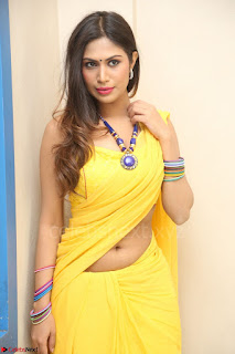 Nishigandha in Yellow backless Strapless Choli and Half Saree Spicy Pics 136.JPG