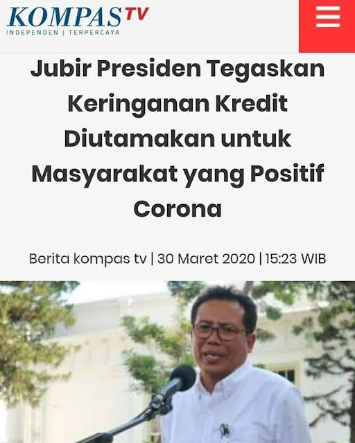 Jokowi cicilan kredit ditanguhkan saat corona