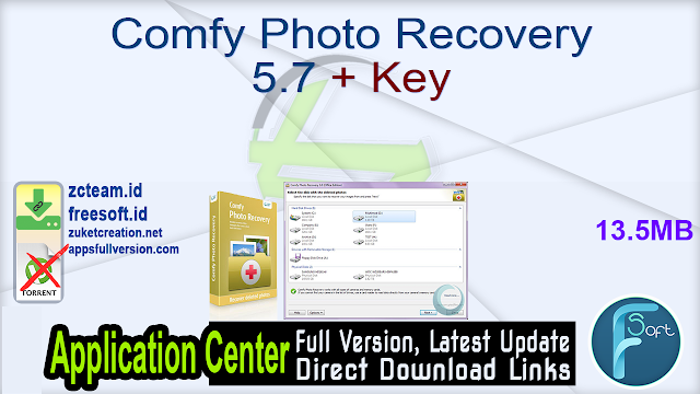 Comfy Photo Recovery 5.7 + Key_ ZcTeam.id
