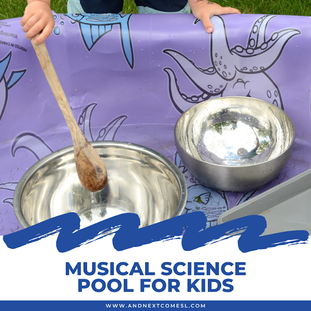 Musical science pool activity for kids