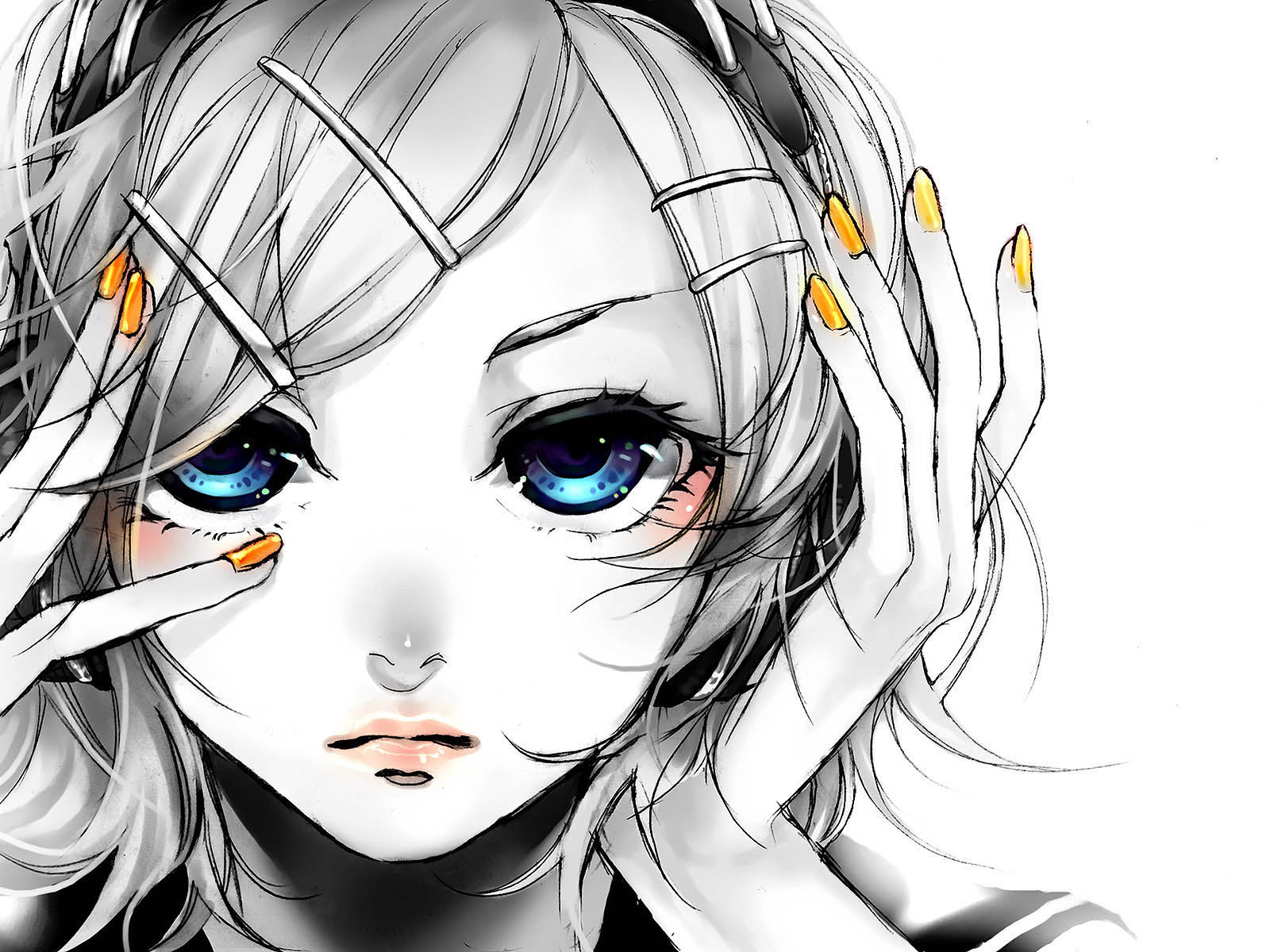 Wallpapers anime girl wallpapers - Anime face wallpaper ...