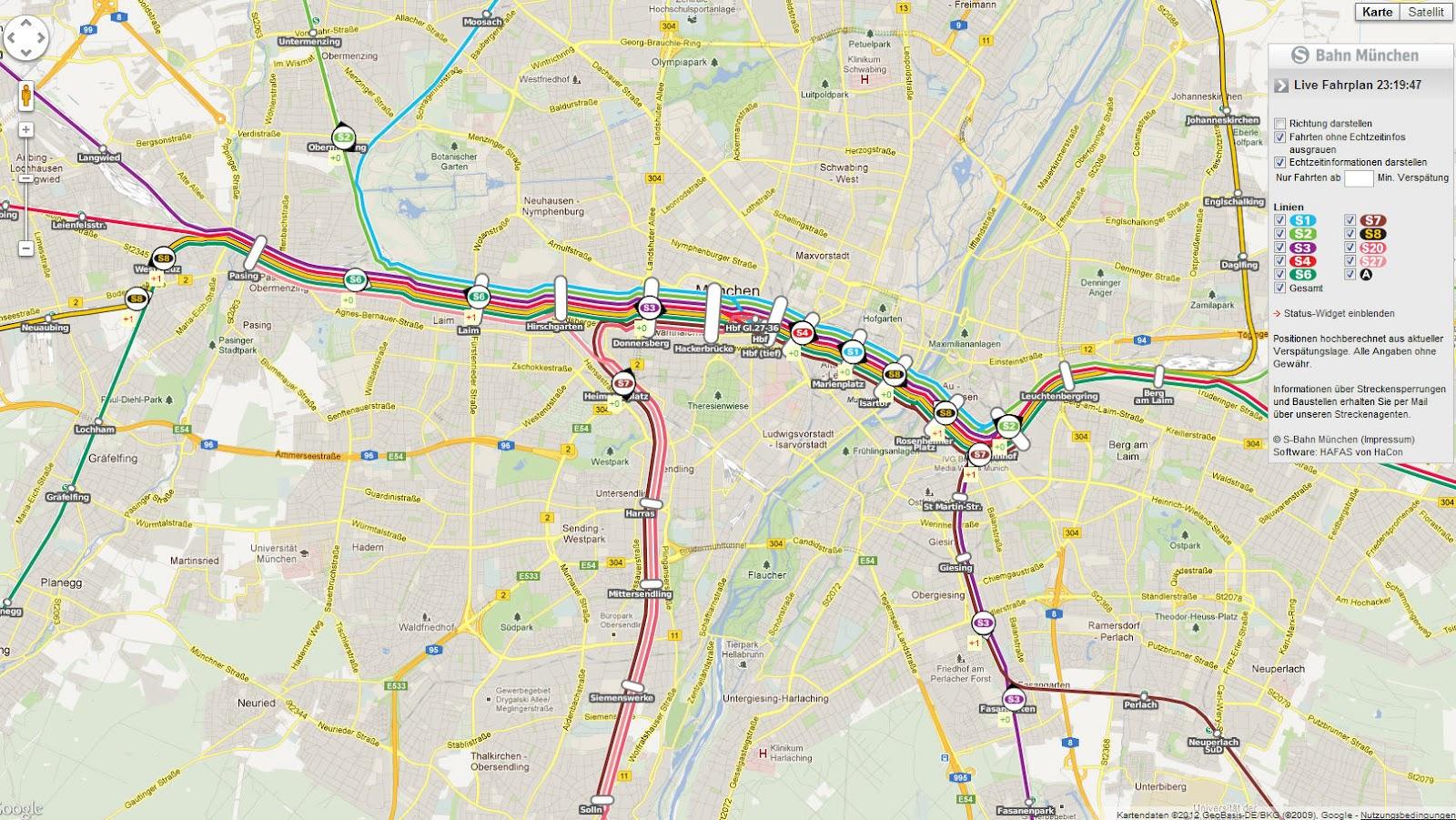 Karte München S Bahn Netz.S Bahn München Live Fahrplan Landkarten Live