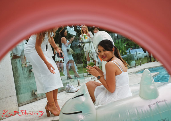 In the pool but not in the pool - Havana Days pool party Launch Event - Photographed by Kent Johnson for Street Fashion Sydney