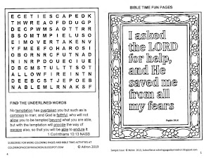 Subscribe to Kid's Bible Fun Time Printables