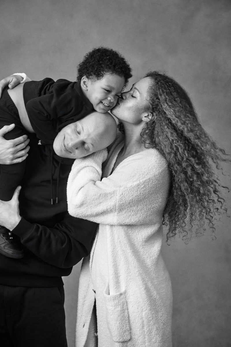 Sabina Karlsson, husband Ricky Jackson, and son Zion star in Victoria's Secret Mother's Day 2021 campaign.