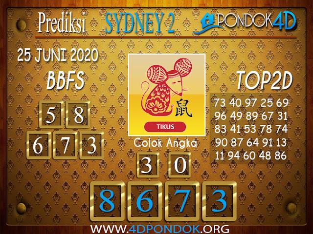 Prediksi Togel SYDNEY 2 PONDOK4D 25 JUNI 2020