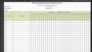Format Daftar Hadir Buku Kerja Guru 3