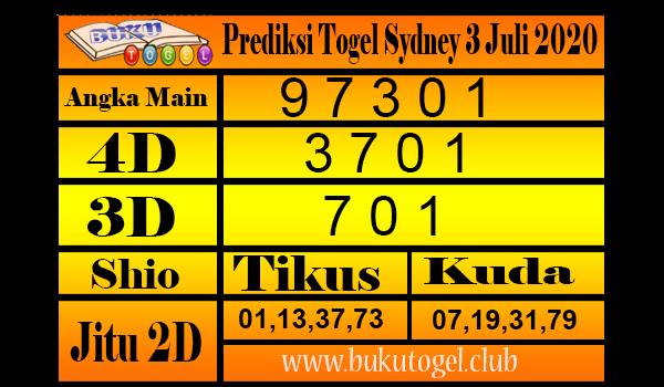 Prediksi Togel Sydney 3 Juli 2020 Jumat