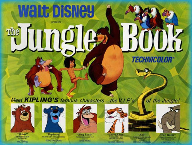 The Jungle Book film poster animatedfilmreviews.filminspector.com