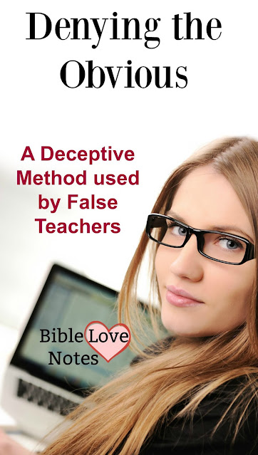 Beware of this Deceptive Method used by False Teachers.