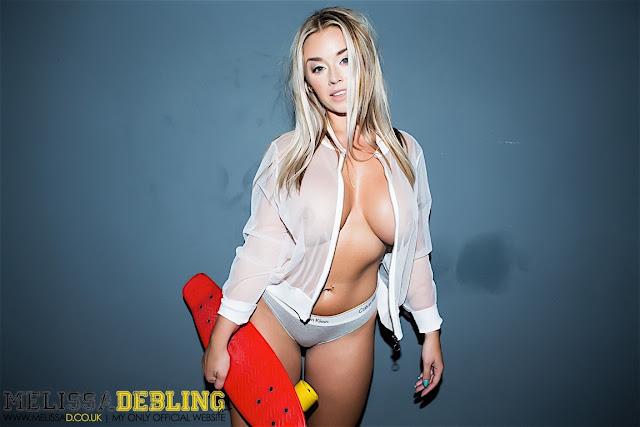 Melissa Debling big boobs skater girl grey panties sexy side tits