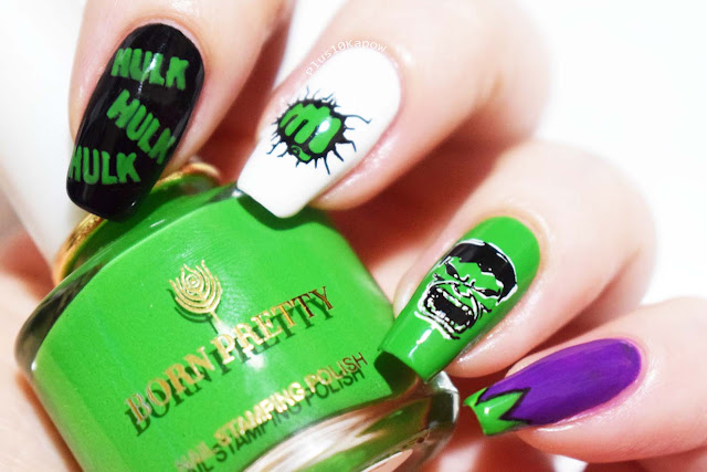 Marvel's HULK nails Nerdy Nails Plus10Kapow