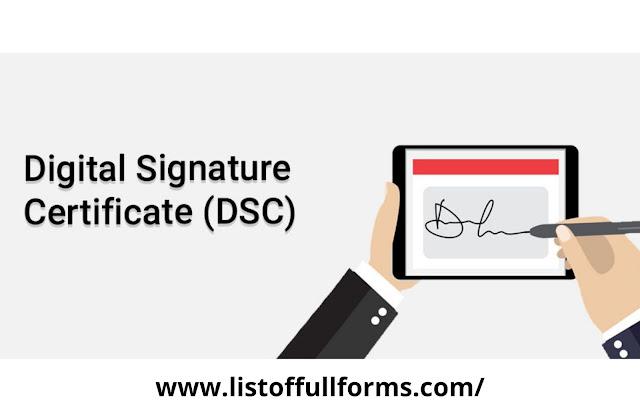 DSC full form