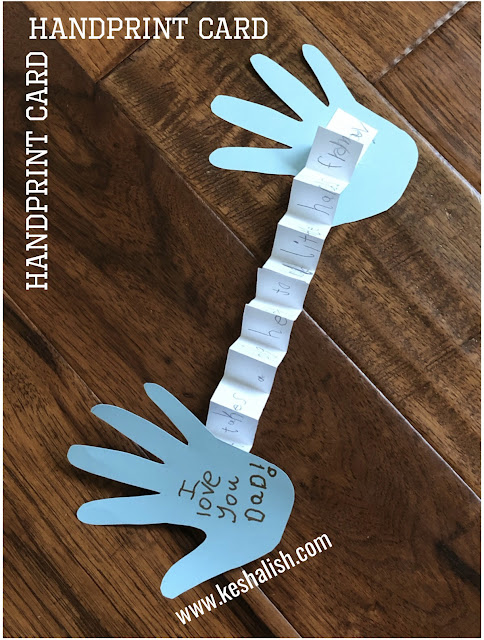 handprint card for kids to make
