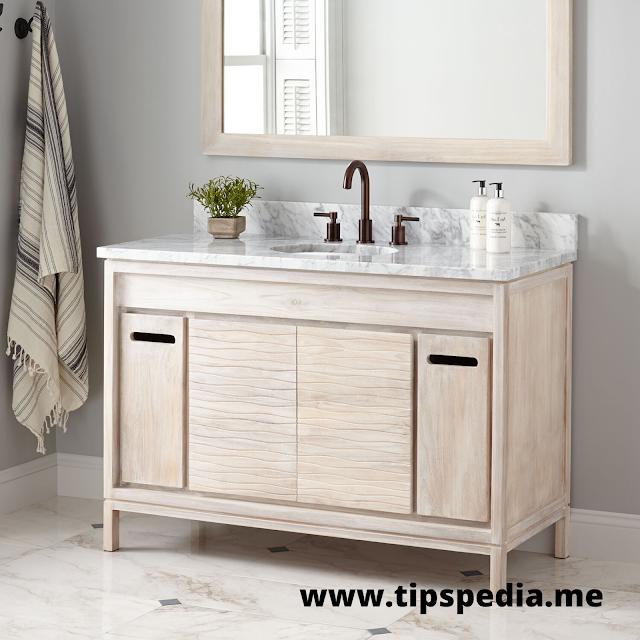 white washed oak bathroom cabinet