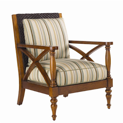 Wicker chair for tropical decor by Island Estate