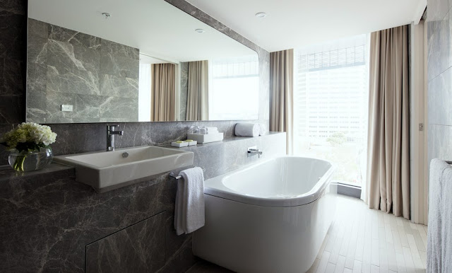 There's more than a touch of luxury in the Hyatt Regency bathroom.